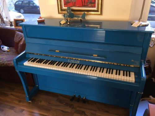 F. Zeller Blue Piano