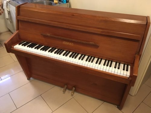Omega Teak Upright Piano