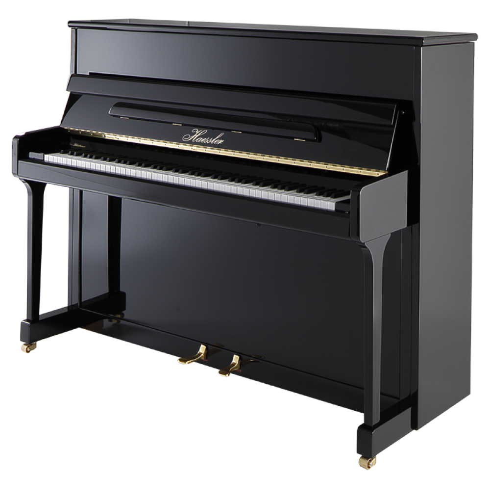 h-115-black-polish Haessler Piano