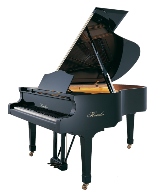 h-186-black-polish Haessler grand piano