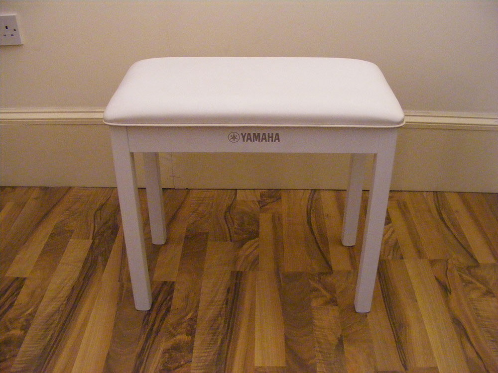 Yamaha White Piano Stool