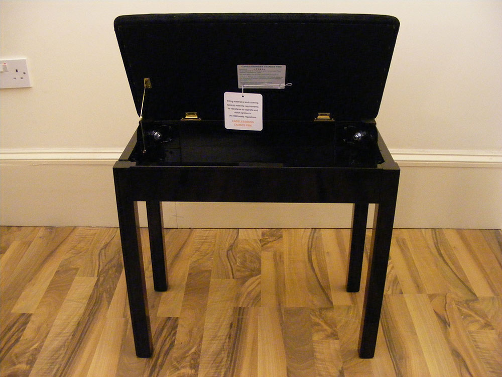 LSM Box Piano Stool with Storage