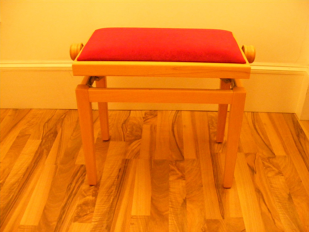 Beech Adjustable Piano Stool