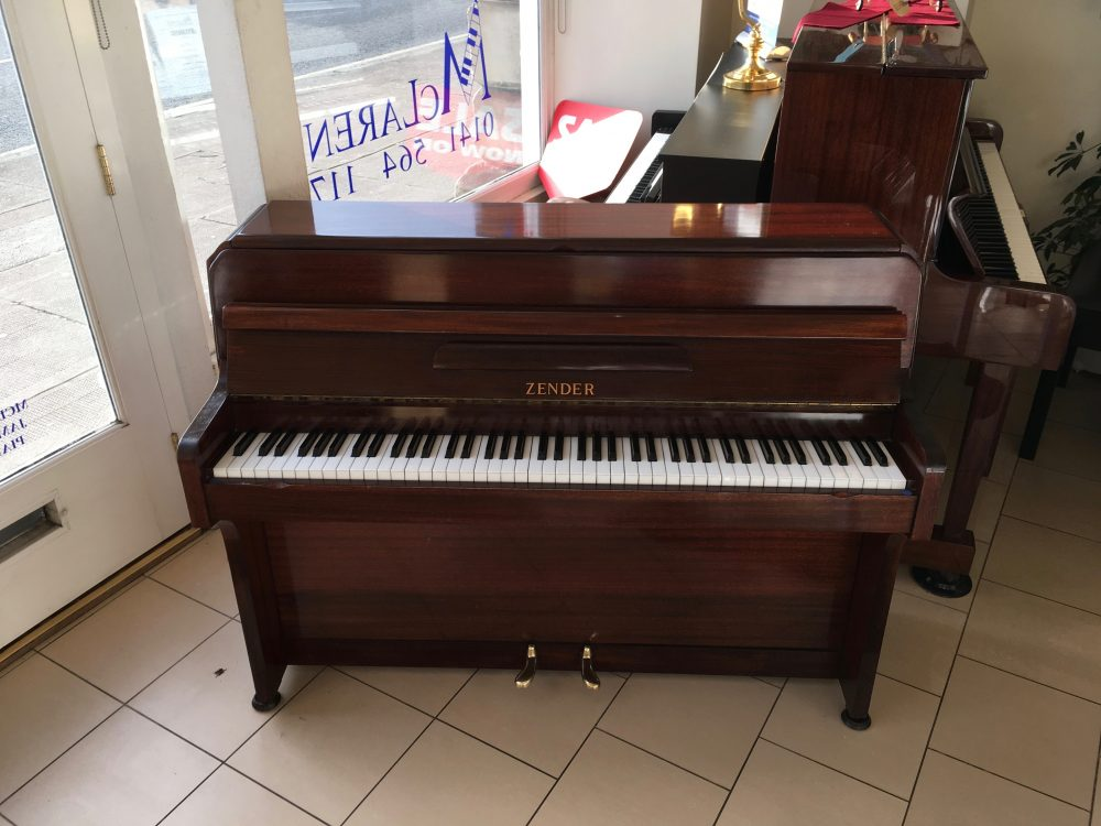 Zender upright piano mahogany