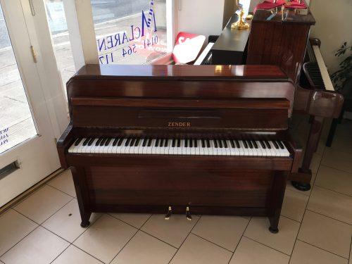 Zender upright piano mahogany